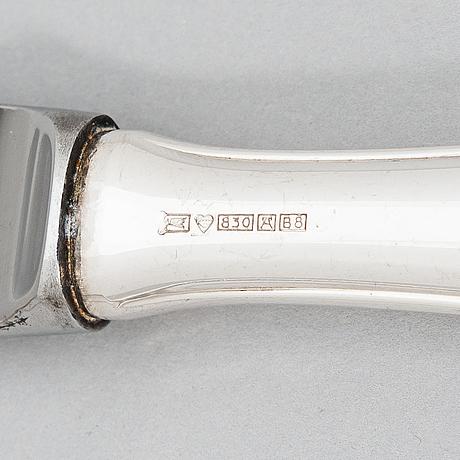 A 24-piece set of 'chippendale' silver cutklery,  kultateollisuus oy, turku, finland 1978-79.