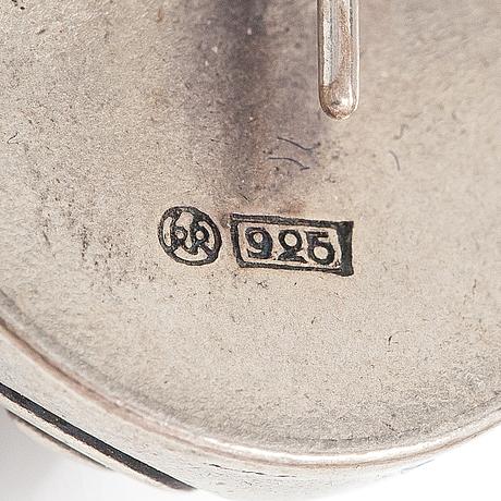 "Korvakorupari ""halikon käätykorut"", sterlinghopeaa, malli 213. kalevala koru, helsinki."