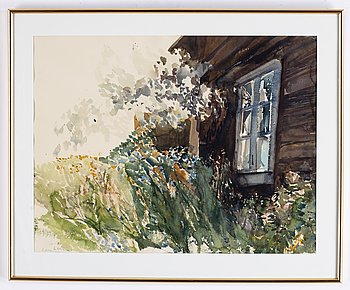 Lars Lerin, watercolour, signed Lars Lerin.