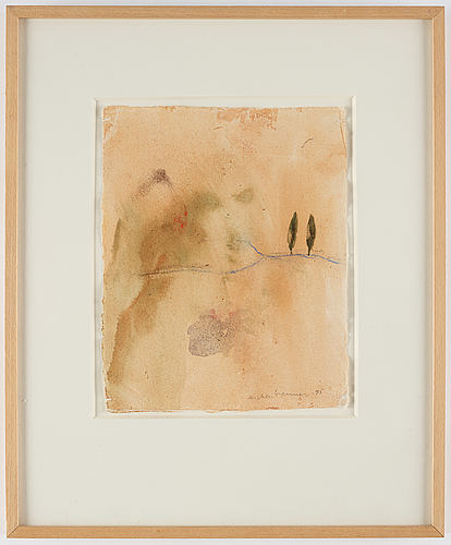 Lennart aschenbrenner, watercolour, signed and dated -95.