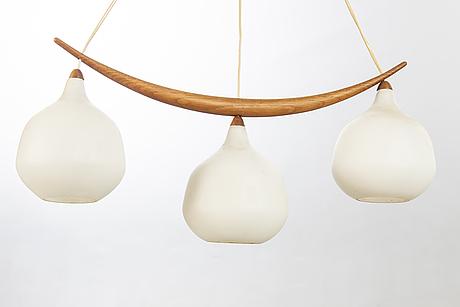 Uno & östen kristiansson, ceiling lamp, luxury, vittsjö, 50s-60s.