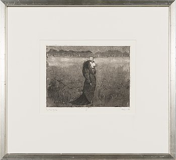 Outi Heiskanen, etching, signed and dated -84, numbered tcl'a 41/80.