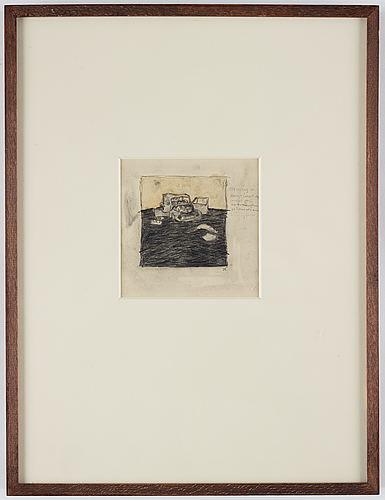 Sten eklund, pencil, signed.