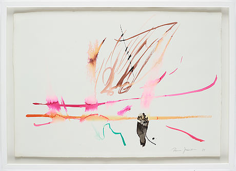 Rune jansson, watercolour, signed and dated -88.