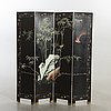 A japanese folding screen later part of the 20th century.