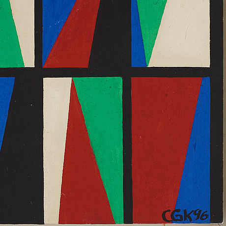 C göran karlsson, tempera on paper, signed and dated -96.