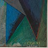 C göran karlsson, tempera on paper, signed and dated -93.