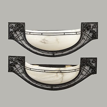 Wall lamps Art Nouveau style late 20th century.