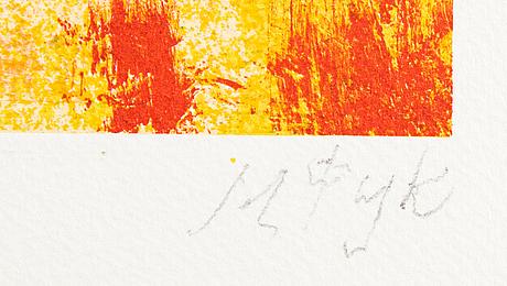 Madeleine pyk, a colour lithograph, signed ea.