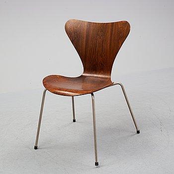 "Arne Jacobsen, stol, ""Sjuan"", Fritz Hansen, Danmark, 1950/60-tal."