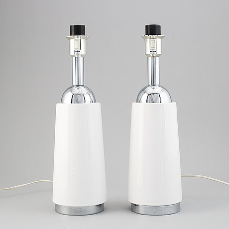 A pair of bergboms table lamps.