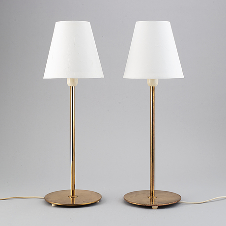 """A pair of """"b-023"""" table lamps from bergboms."""
