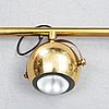 Ceiling lamp, brass, 1970's.