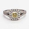 Ring, 18k vitguld, diamanter ca 1.42 ct tot.