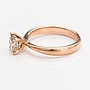 A 14k rose gold ring with a ca. 0.87 ct light brown diamond.