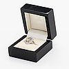Sormus, 14k valkokultaa, timantteja n. 1.71 ct yht.