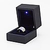 A 14k white gold ring with diamonds ca. 1.80 ct in total.