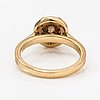 A 14k gold ring with diamonds ca. 1.54 ct in total.