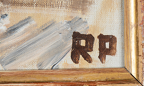 Ragnar person, oil on canvas, signed rp.