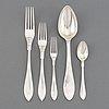"""Silver flatware 33 pcs """"svensk spets"""", mainly cg hallberg, stockholm."""