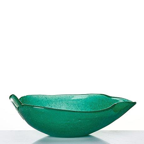 "Tyra lundgren, an ""a bollicine"" glass bowl, venini, murano, italy ca 1940."