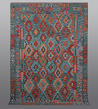 A rug, kilim, ca 252 x 179 cm.