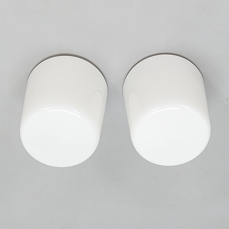 Paavo tynell, a pair of mid-20th-century 80112-25  ceiling lamps for idman.
