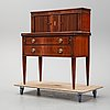 A gustavian style secretaire from the mid 20th century.