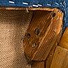 Lasse ollinkari, a pair of 1947 designed armchairs manufactured by vallilan puuseppä ltd.