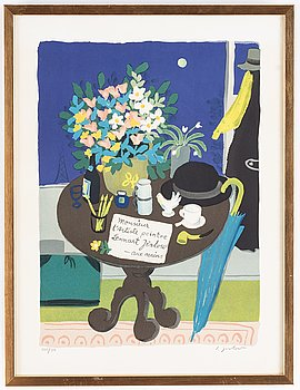Lennart Jirlow, lithograph in colours, 1967, signed 225/350.