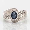 Sapphire and diamond ring.