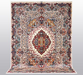 A carpet, Kashmar, ca 392 x 301 cm.