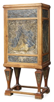 892. A Swedish Art Noveau cupboard by N. Kreuger and E. Lundström dated 1897.