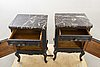 Bedside table a pair of louis xv-style first half of the 20th century.