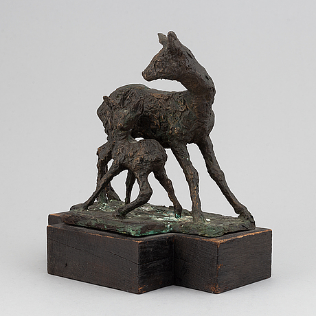 Georg ganmar, skulptur. signerad. daterad 1969 och numr 1/14. höjd 25 cm.