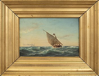 Carl Bille, a signed oil on relined canvas.