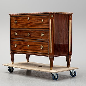 A gustavian style chest of drawers from around 1900.