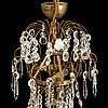 A gustavian style chandelier, first half of the 20th century.