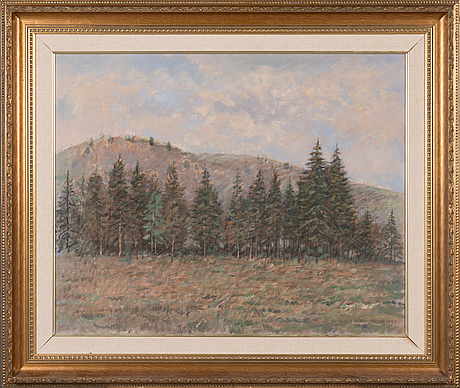 Olavi hurmerinta, oil on canvas, signed and dated 1987.