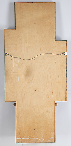 Peter åström, relief, wood, signed.