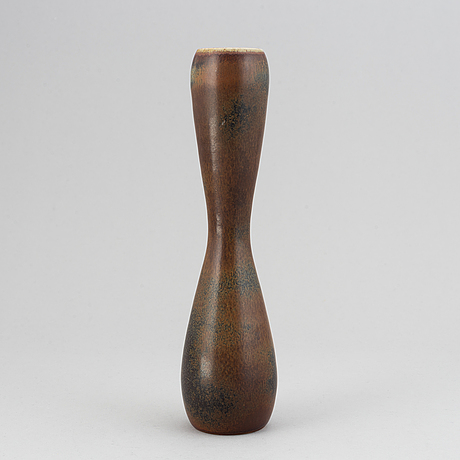 Carl-harry stålhane, a  unique stoneware vase, rörstrand, sweden.
