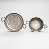 Two pewter bowls and a pitcher, early 19th century.