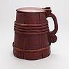 Food/baking tray and beer mug, wood, 19th century.