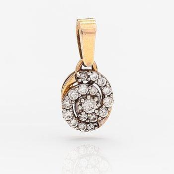 Riipus, 14K kultaa, timantteja n. 0.20 ct yht.