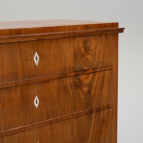 A swedish empire chest of drawers, first half of the 19th century.