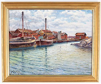 Johan Ericson, oil on canvas, signed and dated 1918.
