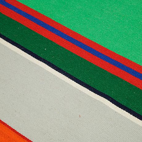 Maria hillfon, a textile, flat weave, ca 167,5-170 x 115,5-118,5 cm, signed maria hillfon.