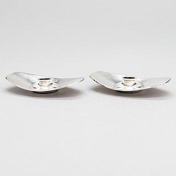 Bertel Gardberg, a pair of silver candleholders for Kultakeskus, Hämeenlinna 1958.