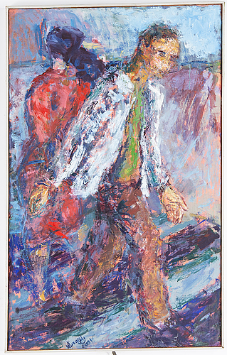 Oscar hernandez soriano, oil on canvas, signed and dated 2001.