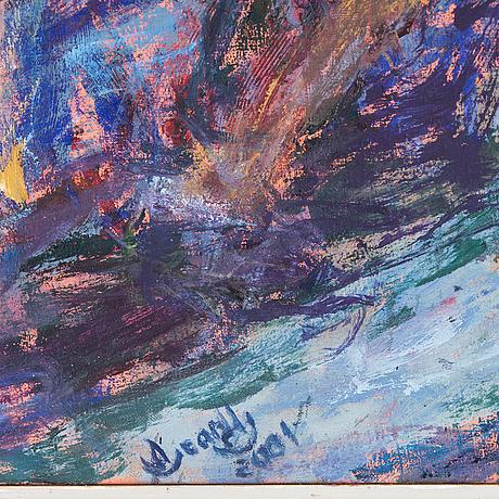 Oscar hernandez soriano, olja på duk, signerad och daterad 2001.